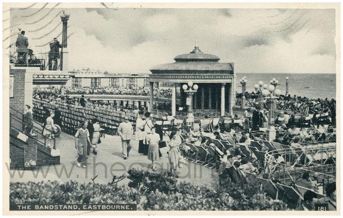 Postcard front: The Bandstand, Eastbourne.