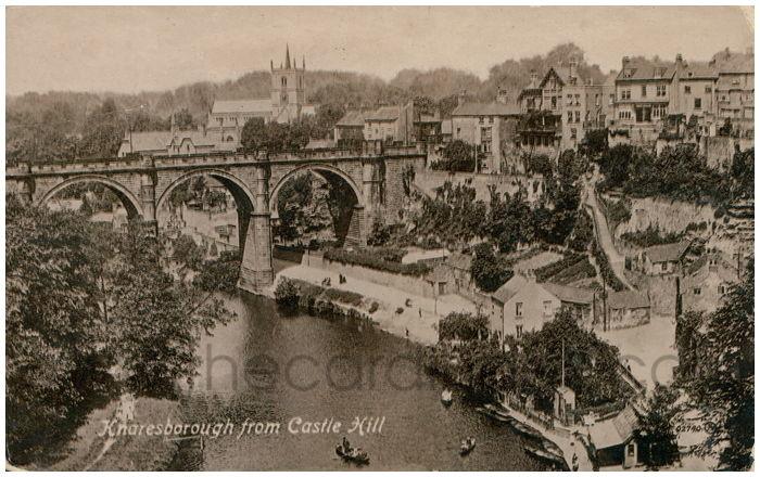 Postcard front: Knaresborough from Castle Hill