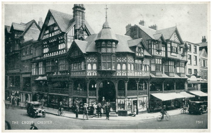 Postcard front: The Cross, Chester.