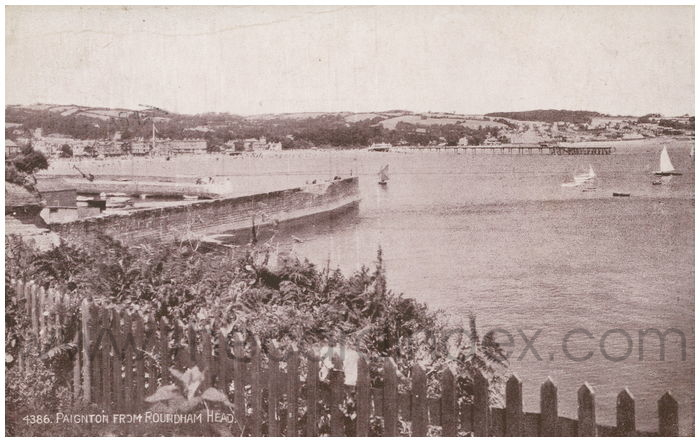 Postcard front: Paignton from Rourdham Head.