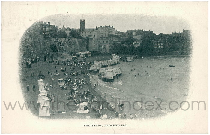 Postcard front: The Sands, Broadstairs.