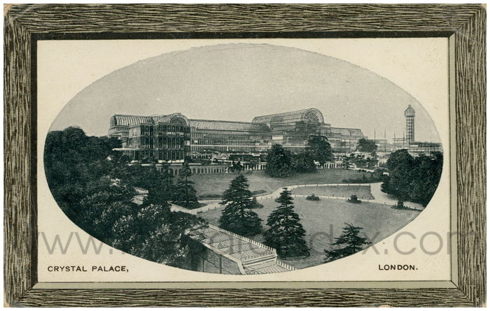Postcard front: Crystal Palace, London.