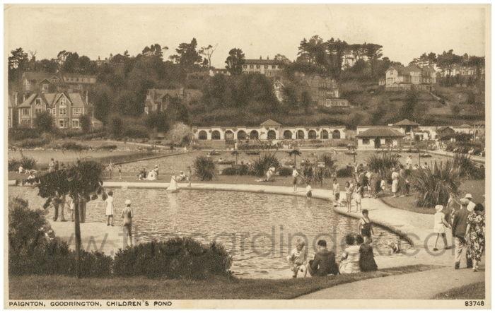 Postcard front: Paignton, Goodrington, Children's Pond.