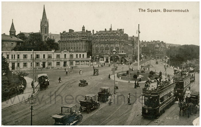Postcard front: The Square, Bournemouth.