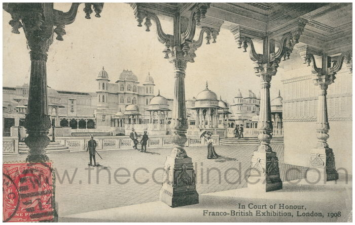 Postcard front: In Court of Honour, Franco-British Exhibition, London, 1908