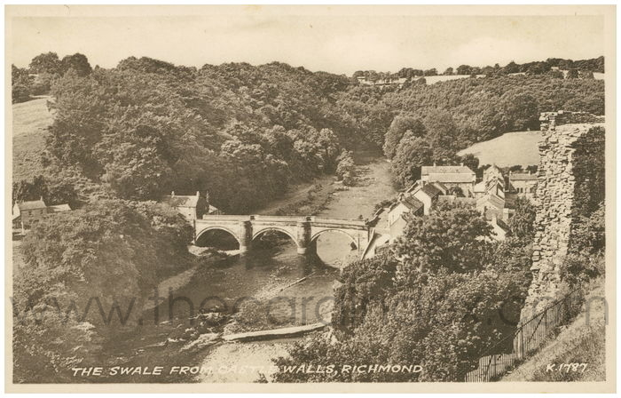 Postcard front: The Swale from Castle Walls, Richmond