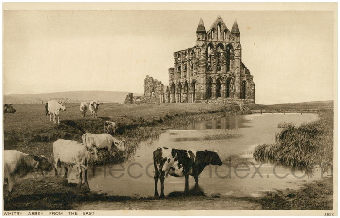 Postcard front: Whitby Abbey from the East.