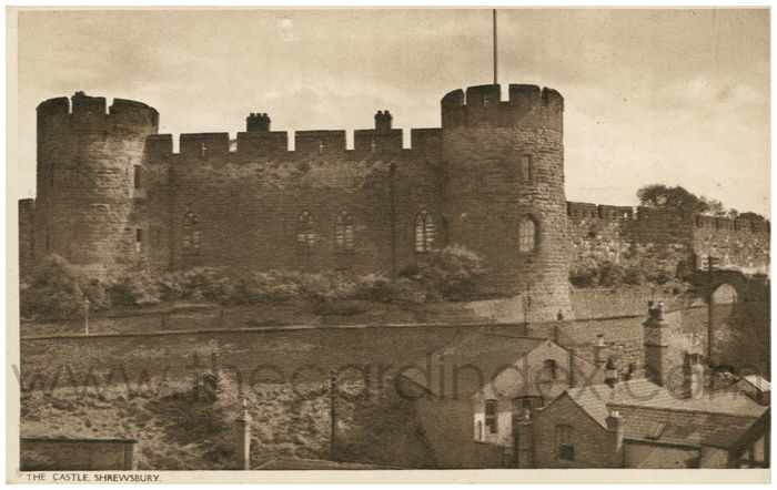 Postcard front: The Castle, Shrewsbury.