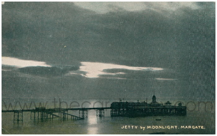 Postcard front: Jetty by Moonlight, Margate.