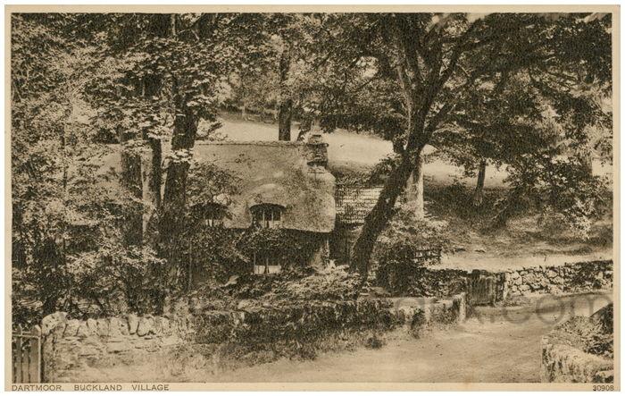 Postcard front: Dartmoor, Buckland Village