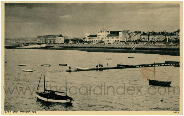 Postcard front: East End, Morecambe.