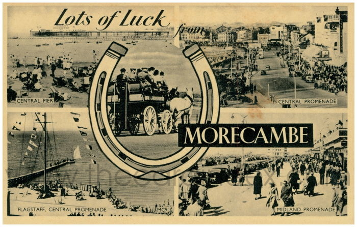 Postcard front: Lots of Luck from Morecambe.