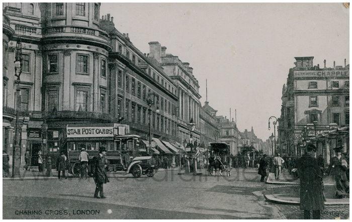 Postcard front: Charing Cross, London.
