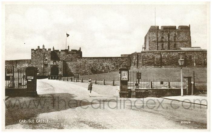 Postcard front: Carlisle Castle.