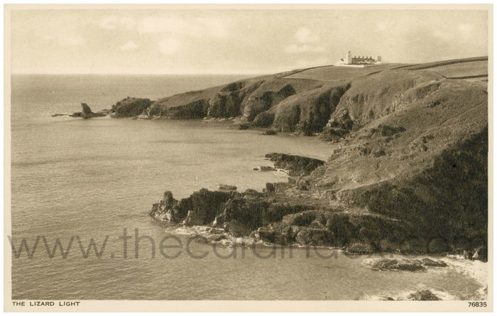 Postcard front: The Lizard Light