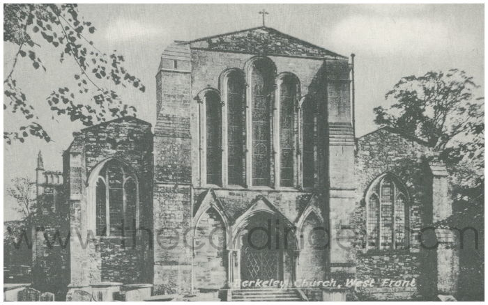 Postcard front: Berkeley Church, West Front.