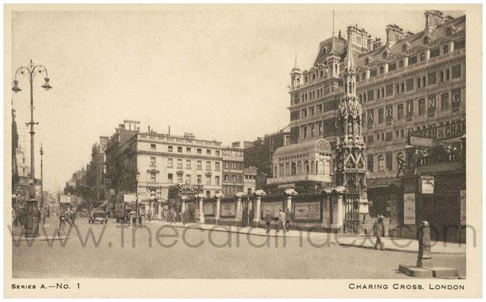 Postcard front: Charing Cross, London,.
