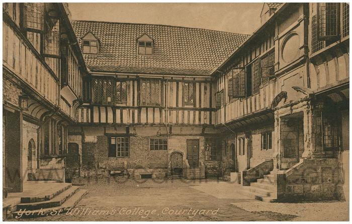 Postcard front: York, St. William's College, Courtyard.