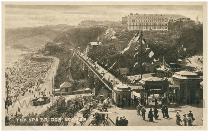 Postcard front: The Spa Bridge, Scarborough.