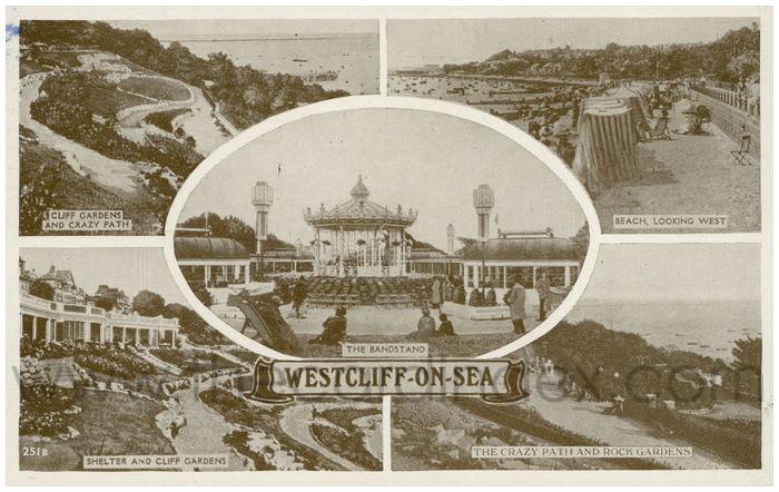 Postcard front: Westcliff-on-Sea