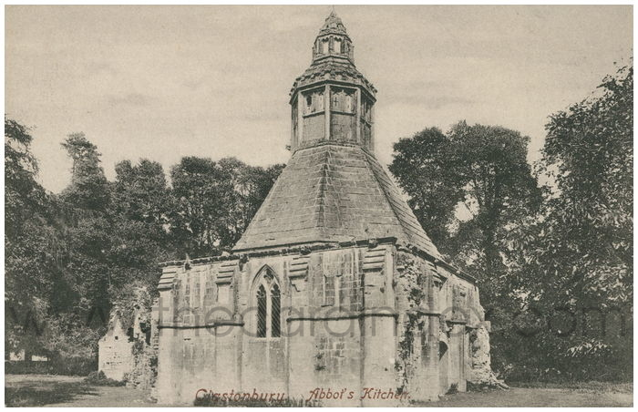 Postcard front: Glastonbury. Abbot's Kitchen.