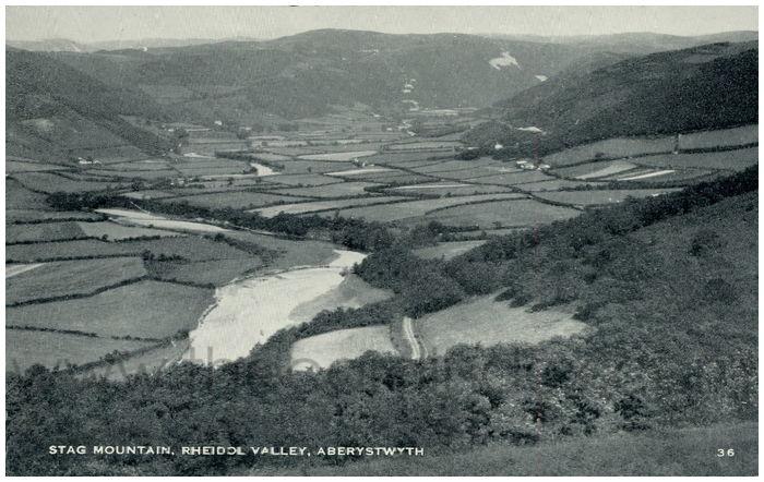 Postcard front: Stag Mountain, Rheidol Valley, Aberystwyth