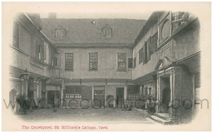Postcard front: The Courtyard, St. William's College, York.
