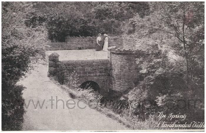 Postcard front:  The Spring. Llandrindod Wells.