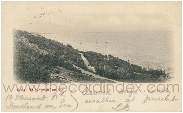 Postcard front: The Cliffs, Westcliff-on-Sea