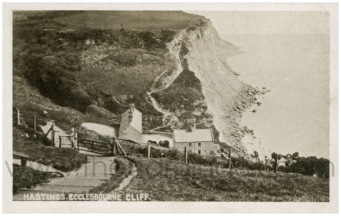 Postcard front: Hastings. Ecclesbourne Cliff.