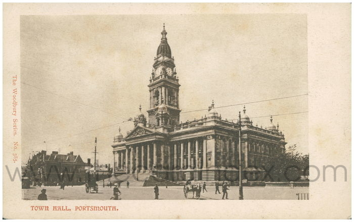 Postcard front: Town Hall, Portsmouth.