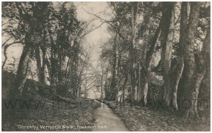 Postcard front: Dorothy Vernon's Walk, Haddon Hall.