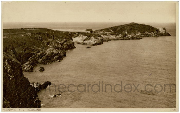 Postcard front: Newquay. The Headland.