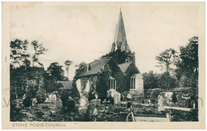 Postcard front: Stoke Pogis Church
