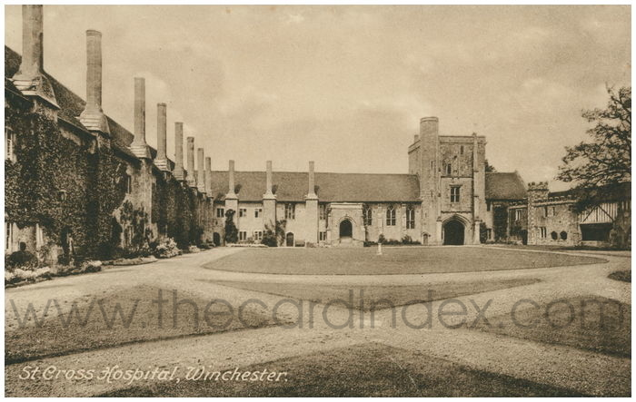 Postcard front: St. Cross Hospital, Winchester.