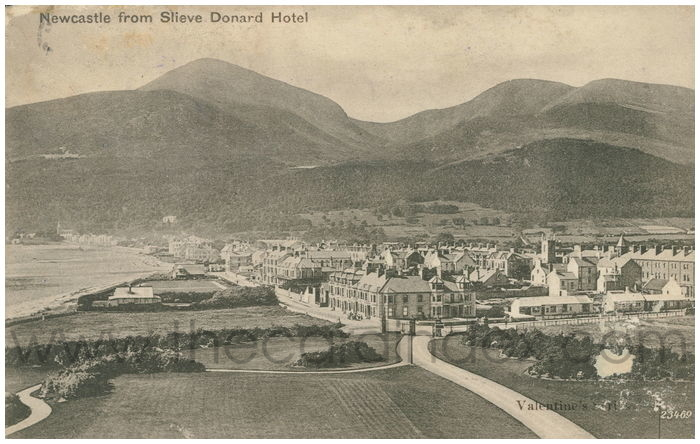 Postcard front: Newcastle from Slieve Donard Hotel
