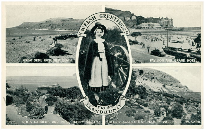 Postcard front: Welsh Greetings from Llandudno