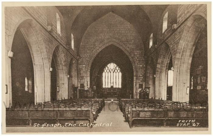 Postcard front: St. Asaph, The Cathedral.