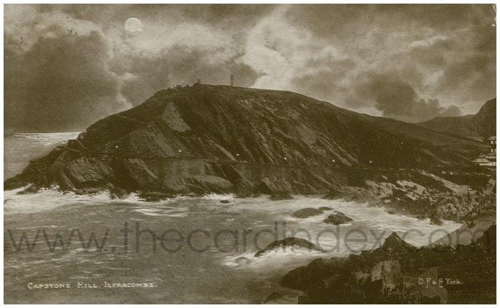 Postcard front: Capstone Hill Ilfracombe.