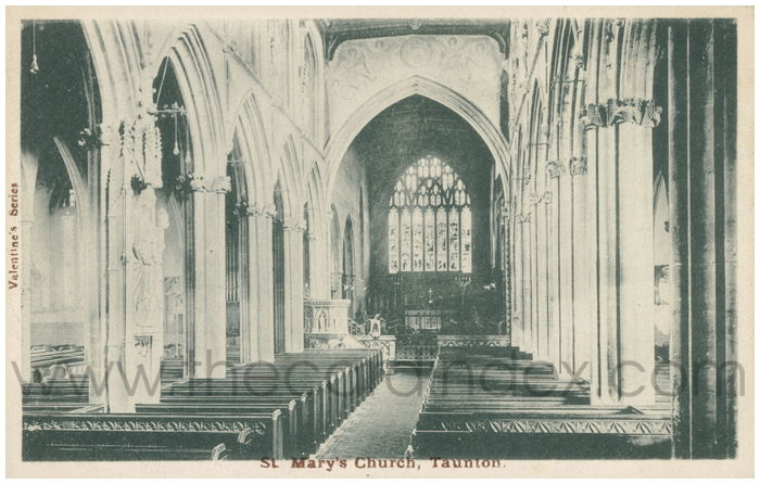 Postcard front: St. Mary's Church, Taunton.