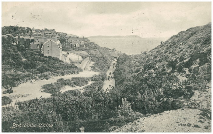 Postcard front: Boscombe Chine