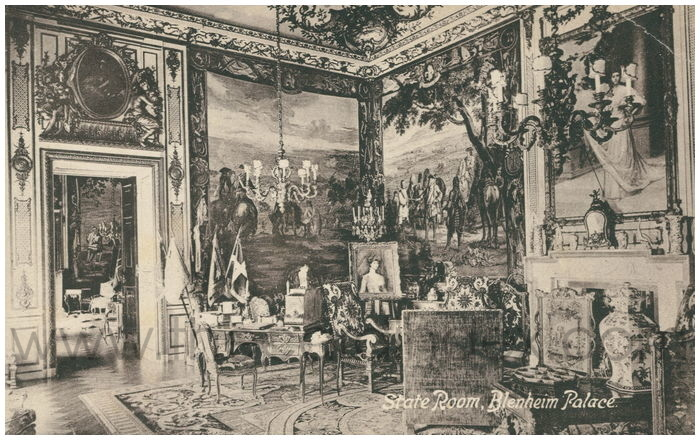 Postcard front: State Room, Blenheim Palace.