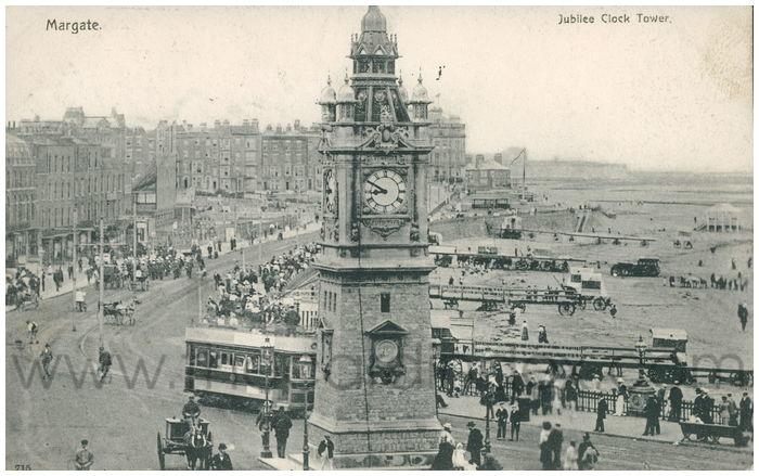 Postcard front: Margate. Jubilee Clock Tower.