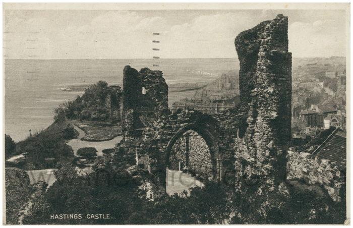 Postcard front: Hastings Castle.