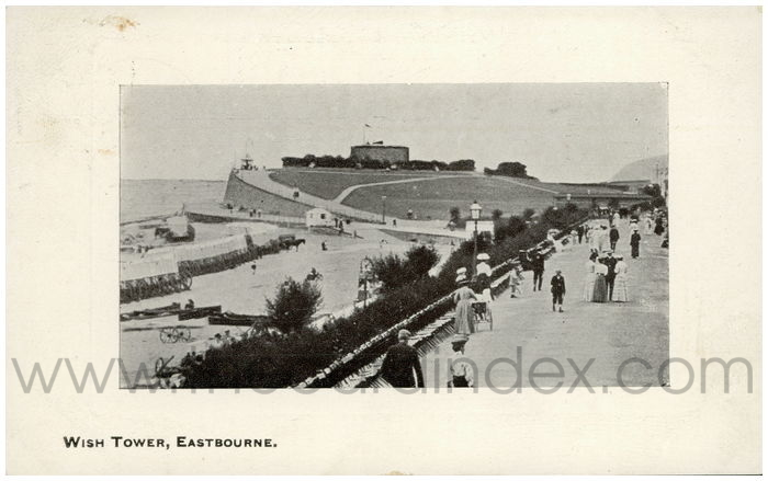 Postcard front: Wish Tower, Eastbourne.