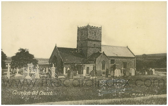 Postcard front: Clevedon Old Church