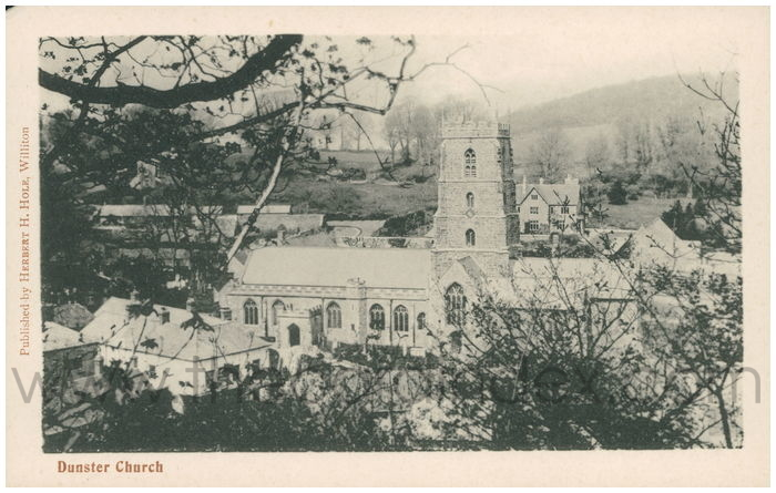 Postcard front: Dunster Church
