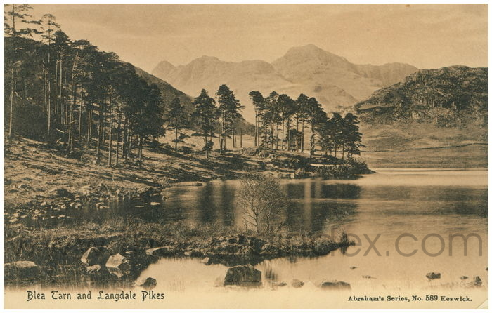 Postcard front: Blea Tarn and Landdale Pikes