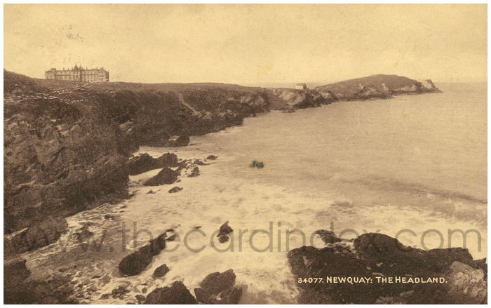 Postcard front: Newquay: The Headland.