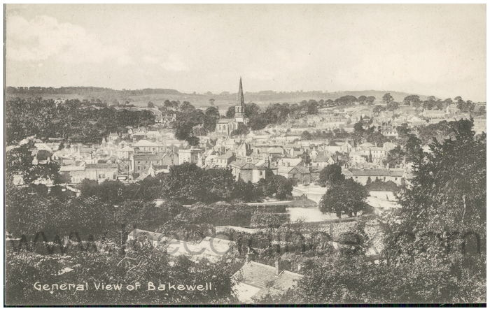 Postcard front: General View of Bakewell.